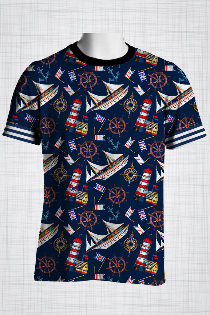 Plus Size Men's Clothing Nautical Sailing t-shirts
