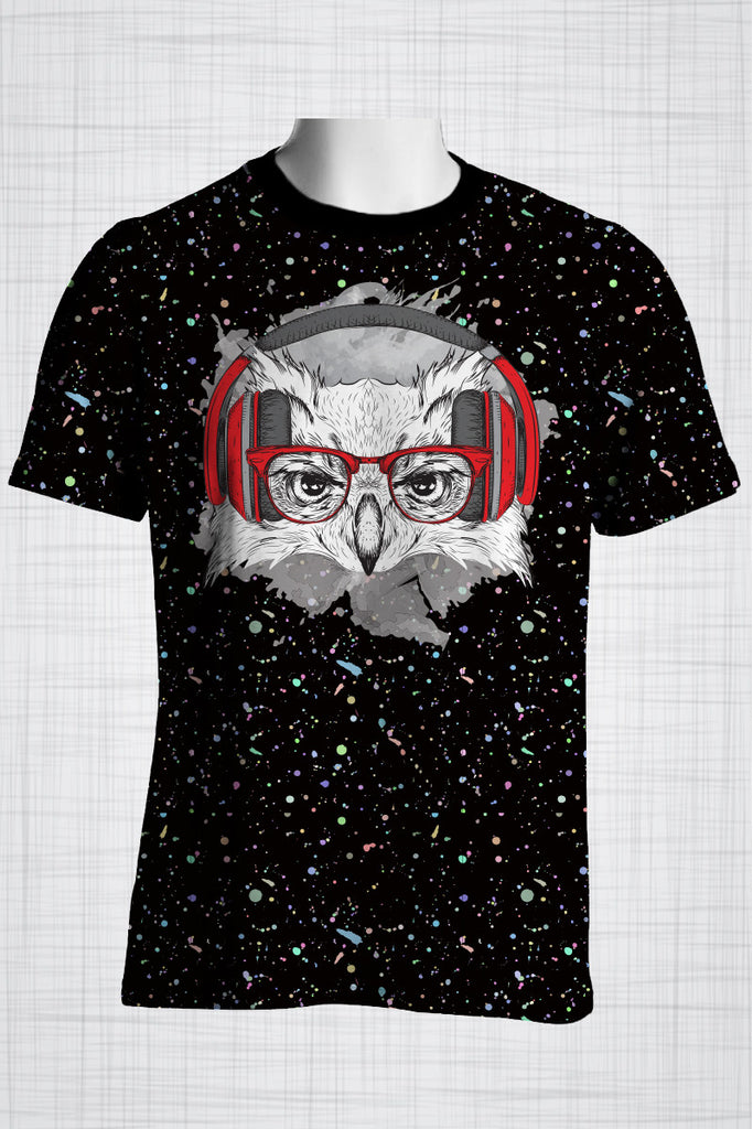 Plus Size Men's Clothing Owl Red t-shirt