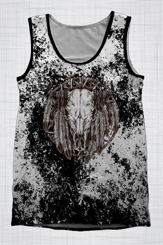 Plus Size Men's Clothing Grunge Bull singlet