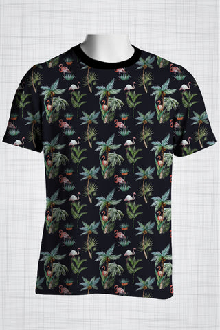 Plus Size Men's Clothing Flamingo t-shirt T002