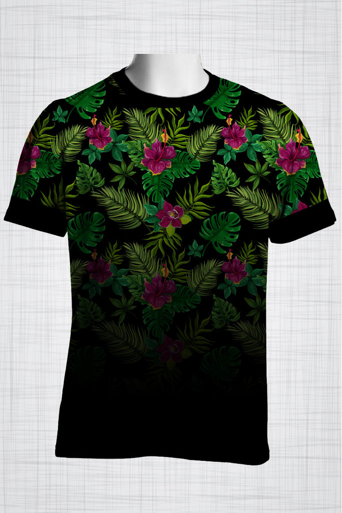 Plus Size Men's Clothing Hibiscus t-shirt