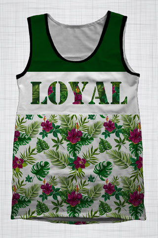 Plus Size Men's Clothing LOYAL Tropical singlet