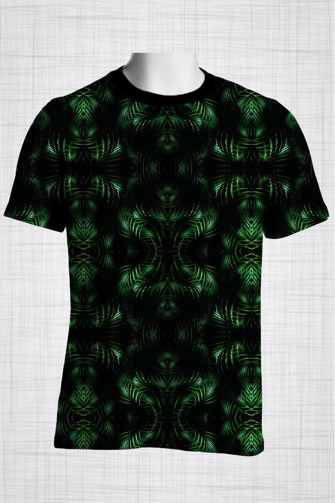 Plus Size Men's Clothing Palm Reflect t-shirt T006