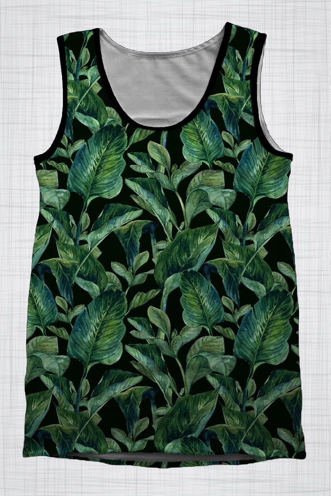 Plus Size Men's Clothing Lush Green singlet T007