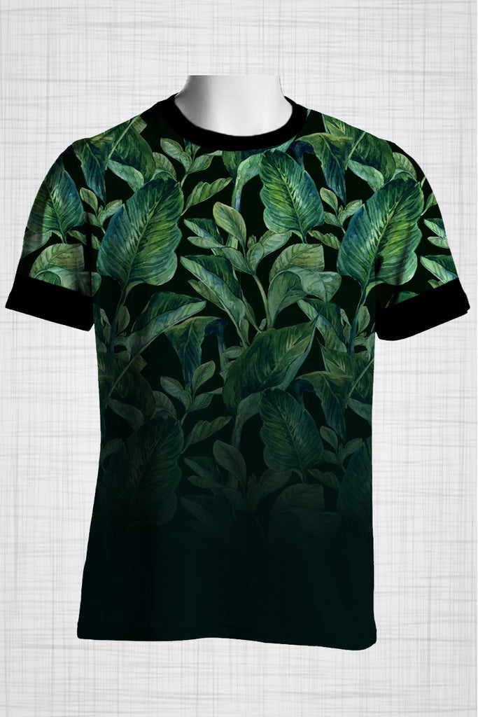 Plus Size Men's Clothing Lush Green t-shirt T007