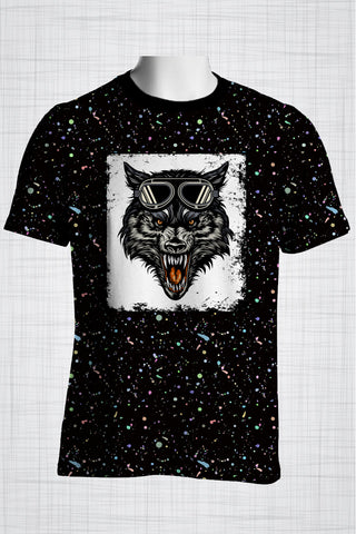 Plus Size Men's Clothing Wolf t-shirt
