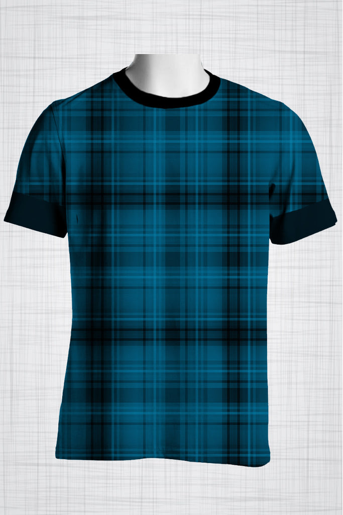 Plus Size Men's Clothing Blue Checkers