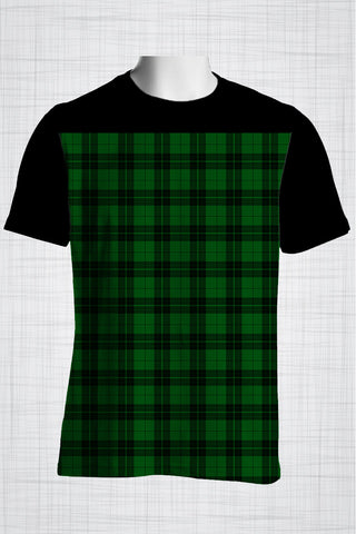 Plus Size Men's Clothing Green Checkers