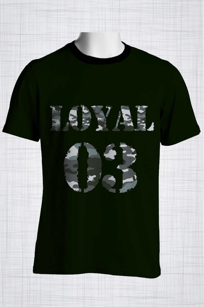Plus Size Men's Clothing Camo Black, LOYAL 03 t-shirt