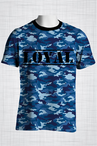 Plus Size Men's Clothing Camo Blue, LOYAL t-shirt
