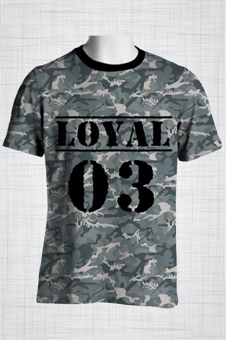 Plus Size Men's Clothing Camo grey, Loyal 03 t-shirt