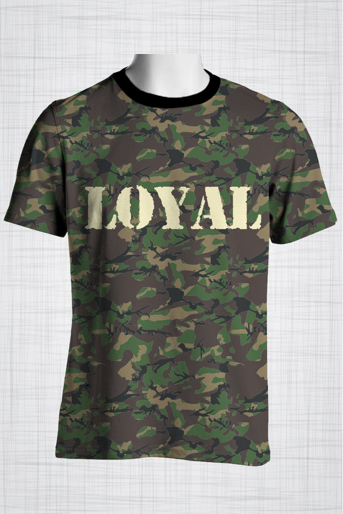 Plus Size Men's Clothing Camo Green, LOYAL t-shirt