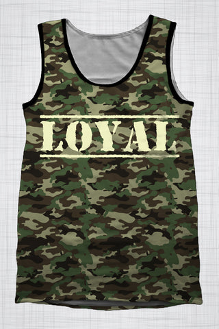 Plus Size Men's Clothing Camo LOYAL singlet