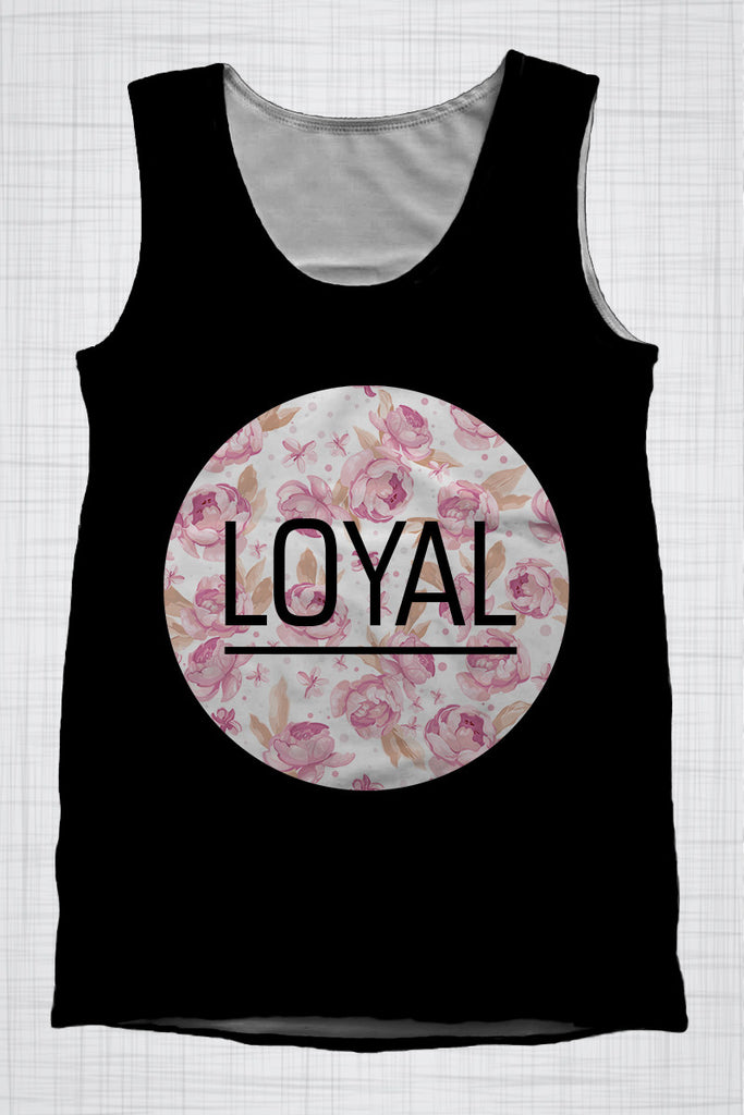 Plus Size Men's Clothing LOYAL singlet CC0740