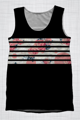 Plus Size Men's Clothing Floral Band singlet DD0094