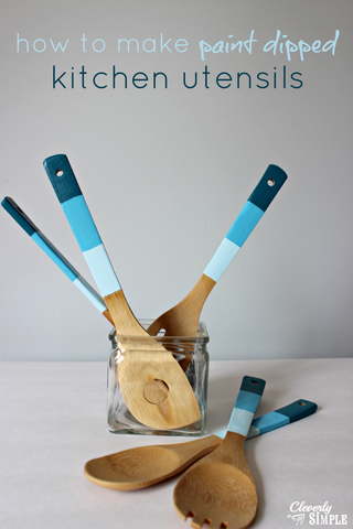 DIY dip-paint utensils