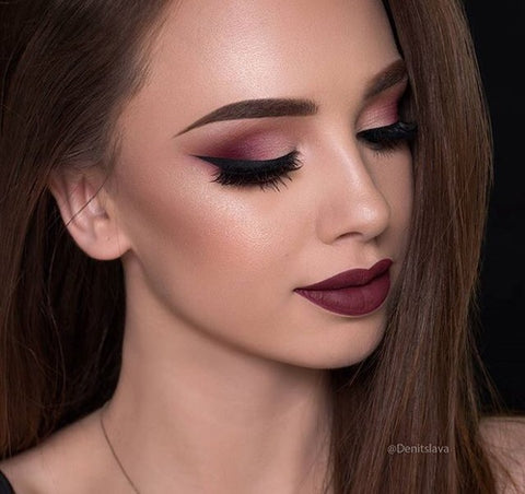 Burgundy Makeup Look