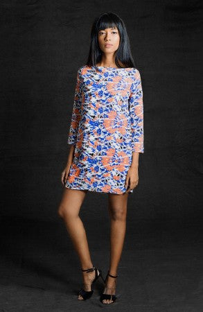 Blue Orange Shift Dress