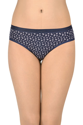 Marl Bikini Brief with Lace