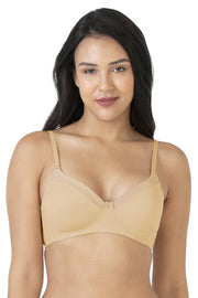 Satin Edge Non-Wired Bra 32D / Sand - amanté Bra