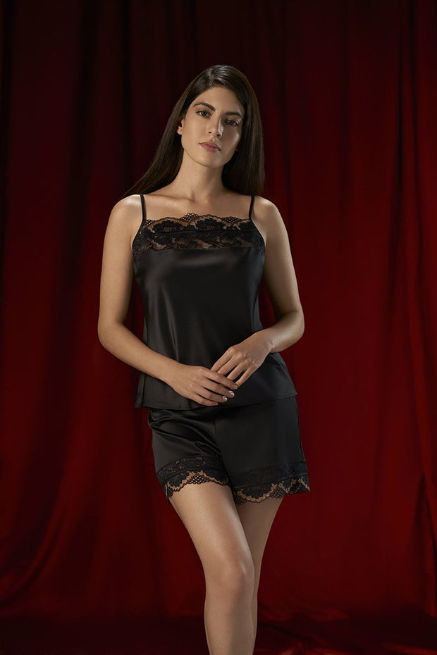 Eternal Romance Sleep Lace Shorts M / Black - amanté Sleepwear