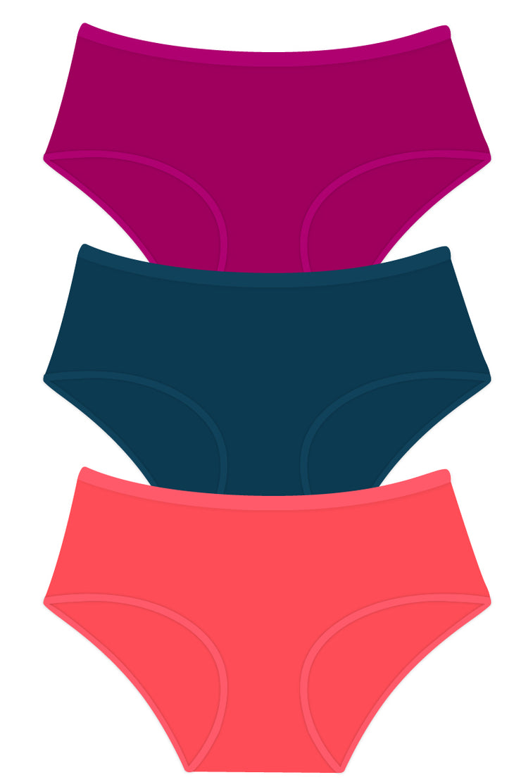 Solid Full Brief Panty Combo 03 M / C302 SOLID - amanté Pantie