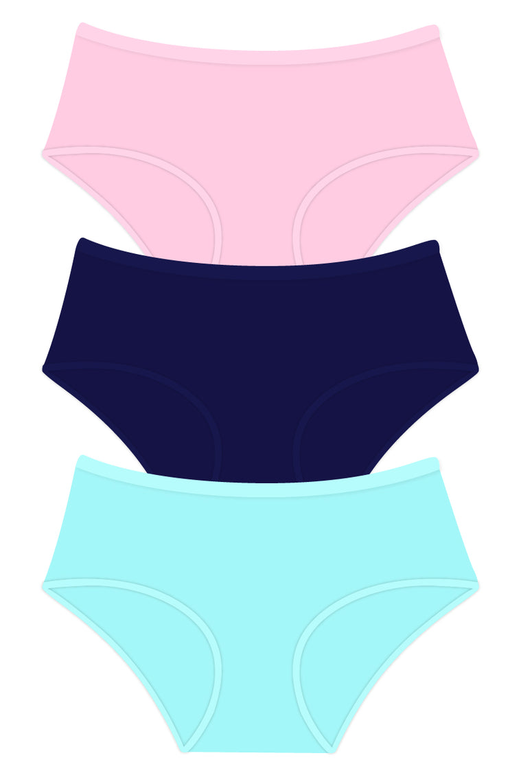 Solid Full Brief Panty Combo 02 S / C301 SOLID - amanté Pantie