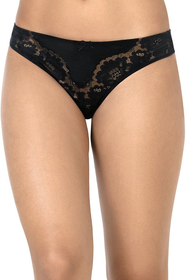 Eternal Romance Lace Thong L / Black - amanté Pantie