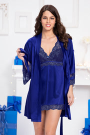 Adore Robe S / Blue Depths - amanté Sleepwear