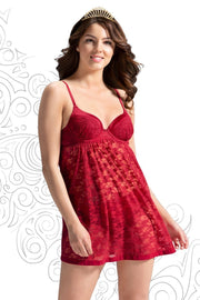 Eternal Romance Lace Babydoll S / Tango Red - amanté Sleepwear