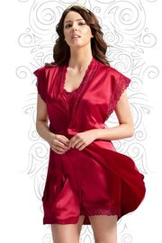 Eternal Romance Robe M / Tango Red - amanté Sleepwear