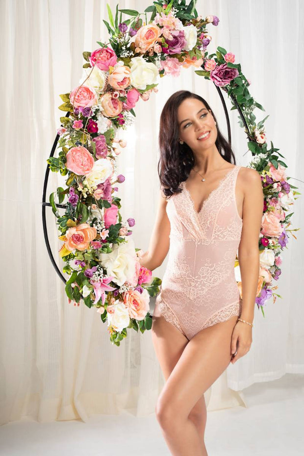 Eternal Bliss Bodysuit S / Pink Pearl - amanté Sleepwear