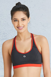 Cross Back Sports Bra S / Black - amanté Sportswear