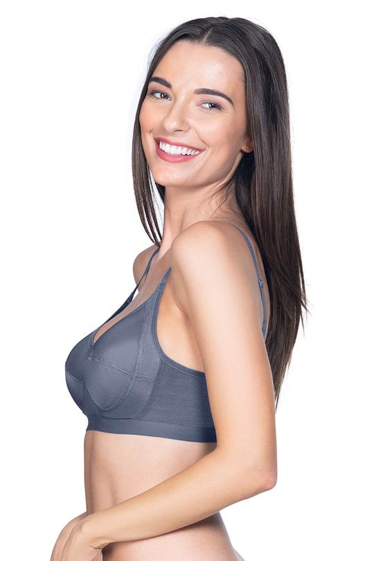 All Day Everyday Bra 38D / Steel Grey - amanté Bra