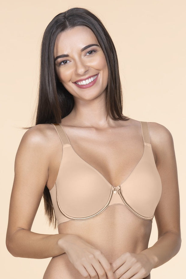 Curvy Smooth Non-Padded Wired Bra 32D / Sandalwood - amanté Bra