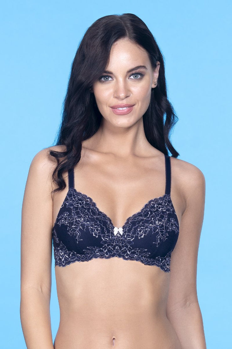 Lace Delight Bra 32B / Midnight - amanté Bra