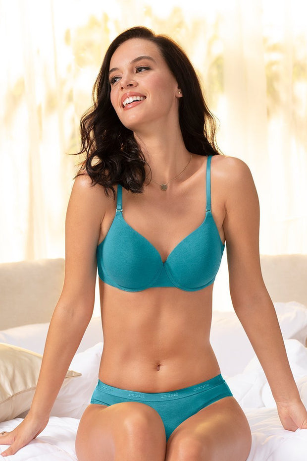 Signature Cotton Padded Wired Bra  - amanté Bra