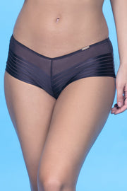Sheer Stripes Panty S / Midnight - amanté Pantie
