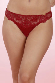 Lace Lift Thong S / Tango Red - amanté Pantie