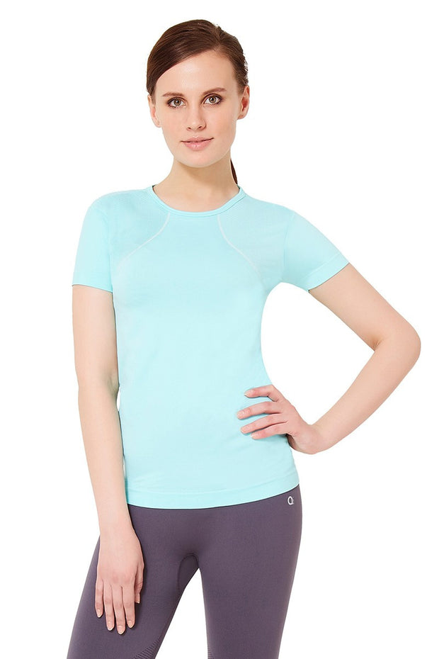 Short Sleeve Sports T-Shirt S / Aruba Blue - amanté Sportswear