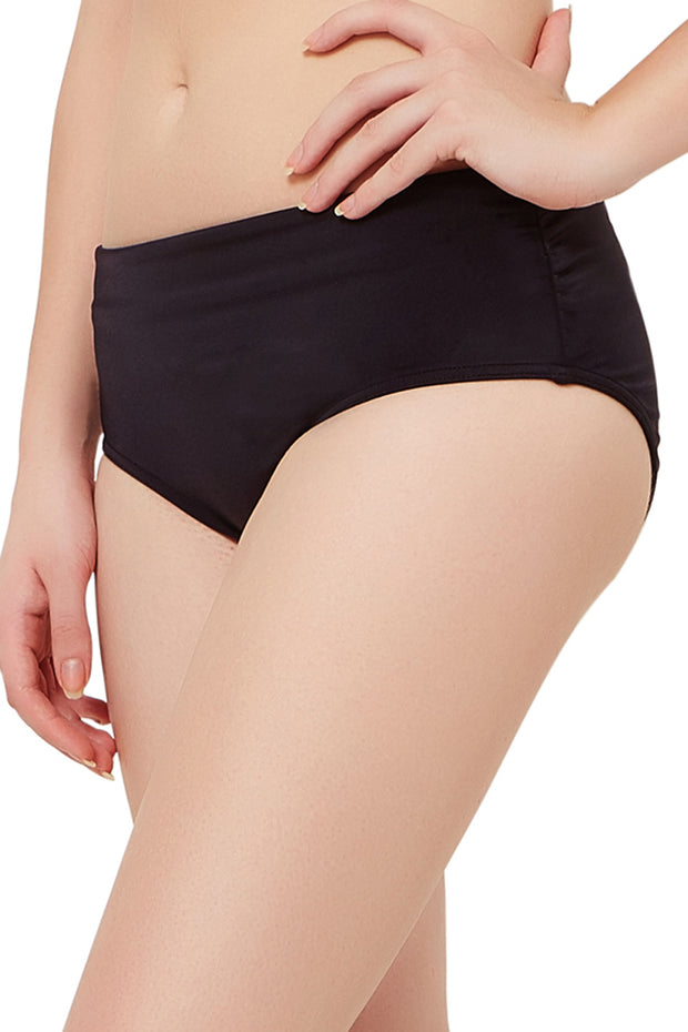 Ruched Swim Bottom (New Colours) S / Black - amanté Swimwear