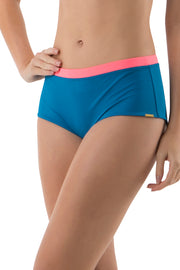 Boyshort with Contrast Waist S / Ocean View - amanté Swimwear
