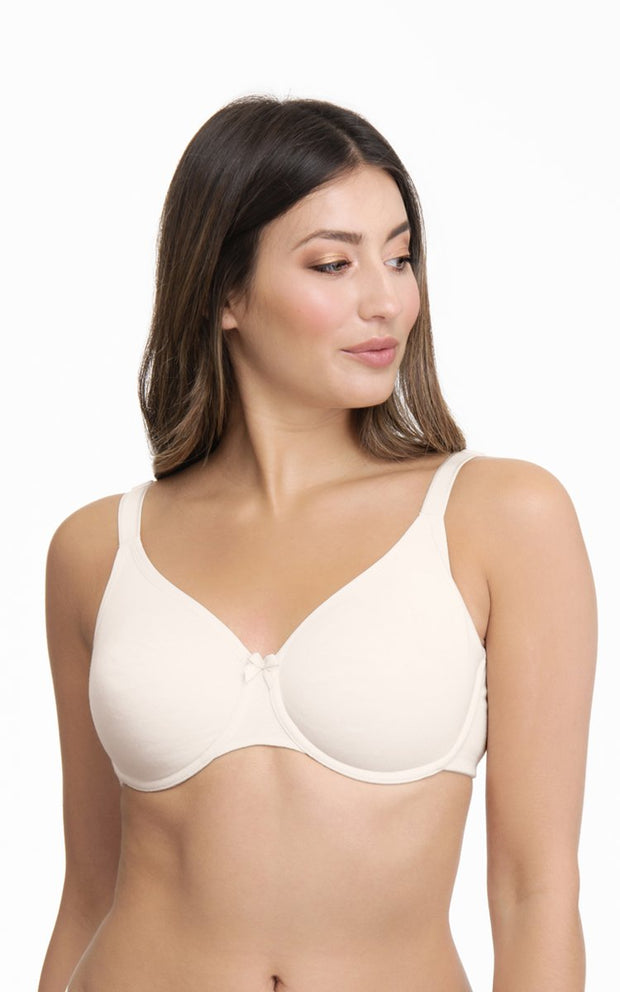 Essential Cotton Wired Bra 34C / Whitesmoke - amanté Bra
