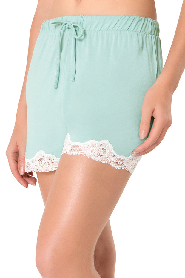 Lace Touch Sleep Short S / Blue Haze - amanté Sleepwear