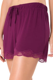 Lace Touch Sleep Short S / Magenta Purple - amanté Sleepwear