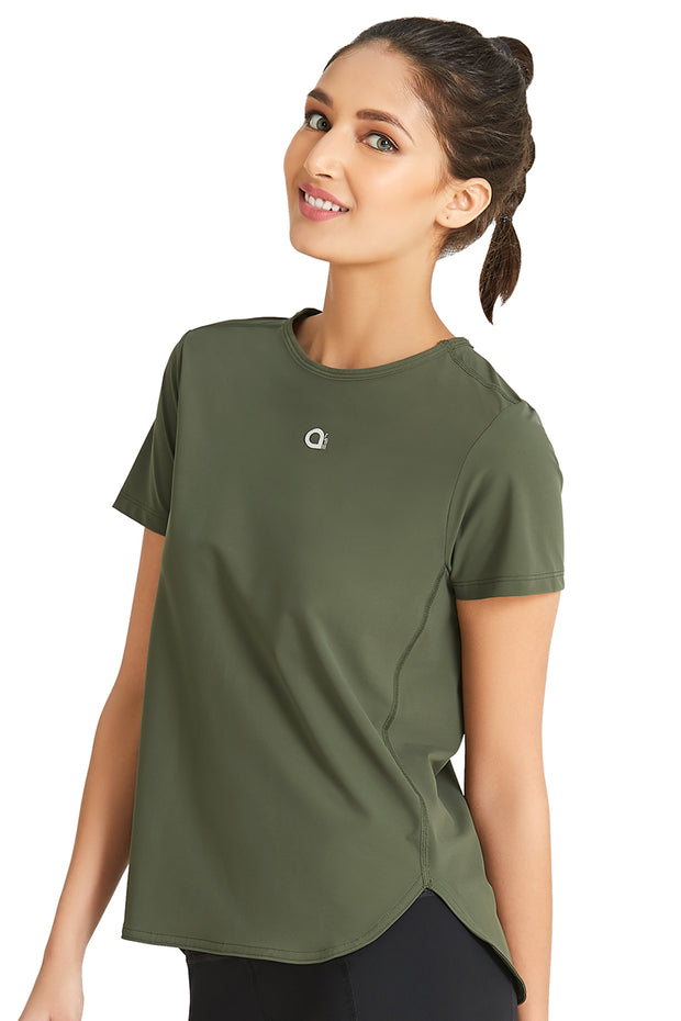 Loose Fitted Sports Top S / Army Green - amanté Sportswear
