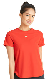 Loose Fitted Sports Top L / Molten Lava - amanté Sportswear