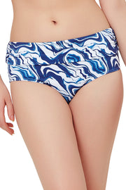 Ruched Swim Bottom (New Colours) S / Marble Print - amanté Swimwear