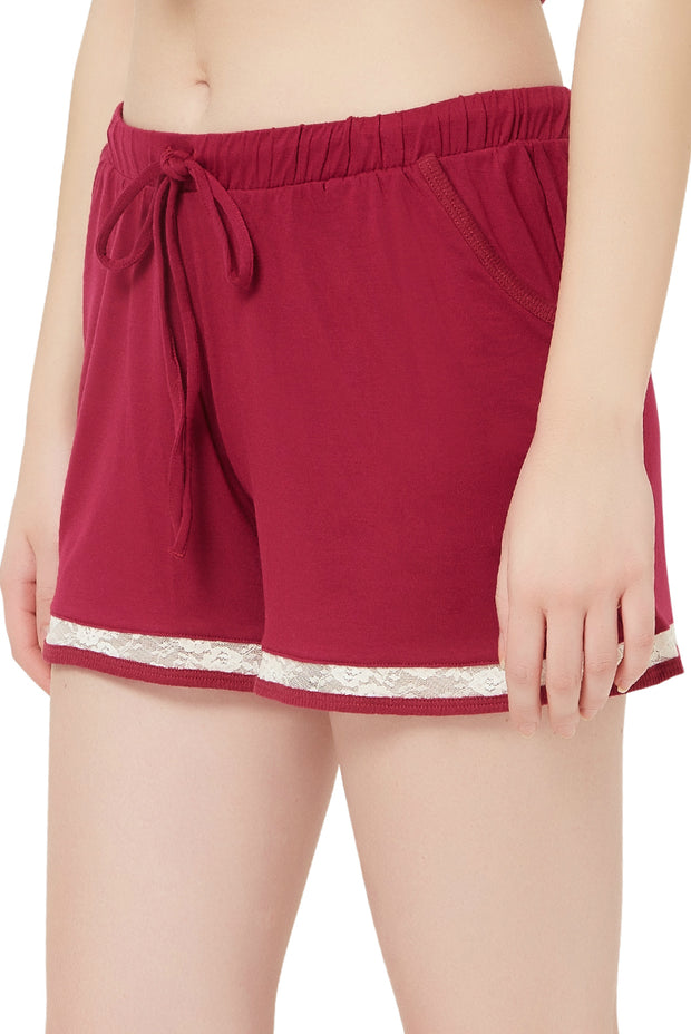 Modal Lounge Shorts S / Beet Red - amanté Sleepwear