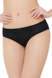 Lace Essentials Panty (New Colours) S / Black - amanté Pantie